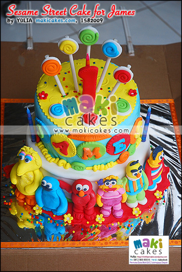 Sesame Street Cake for James_ - Maki Cakes