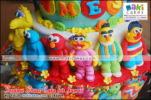 Sesame Street Cake for James__ - Maki Cakes