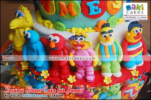 Sesame Street Cake for James__ - Maki Cakes