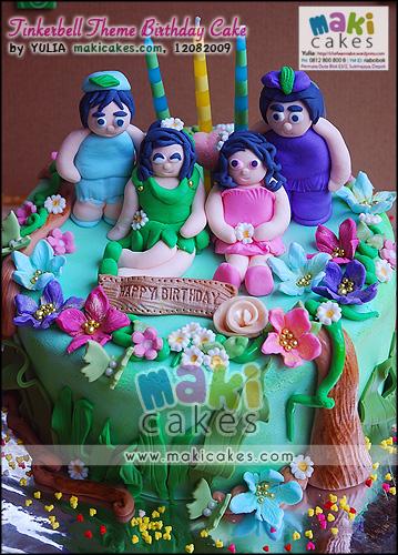 Tinkerbell Theme Birthday Cake_ - Maki Cakes
