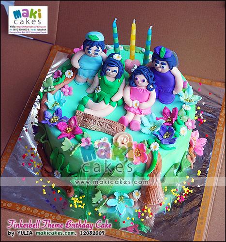Tinkerbell Theme Birthday Cakes - Maki Cakes