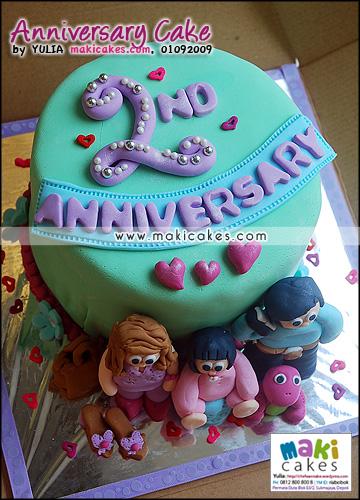 Anniversary Cake Mieta - Maki Cakes