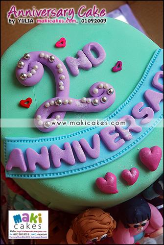 Anniversary Cake Mieta_ - Maki Cakes