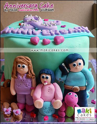 Anniversary Cake Mieta__ - Maki Cakes