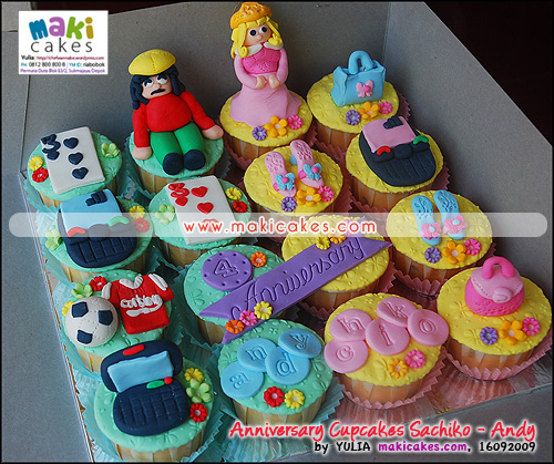 Anniversary Cupcakes Sachiko&Andy - Maki Cakes
