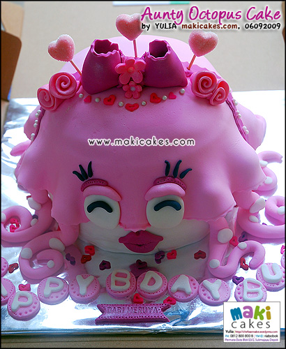 Aunty Octopus Cake - Maki Cakes