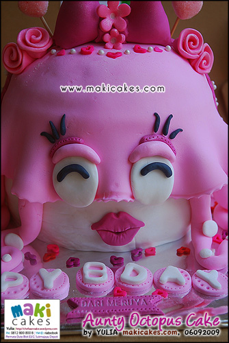 Aunty Octopus Cake_ - Maki Cakes
