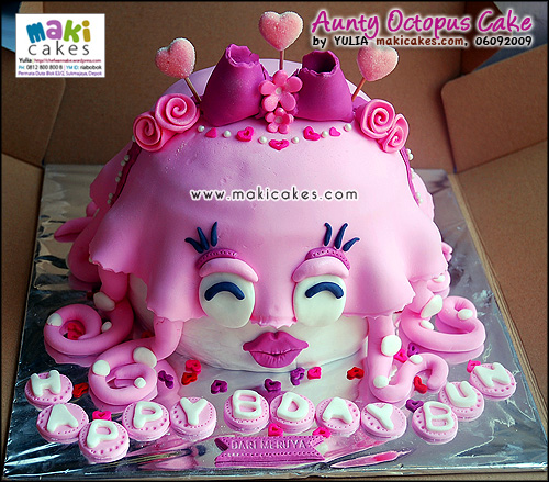 Aunty Octopus Cake__ - Maki Cakes