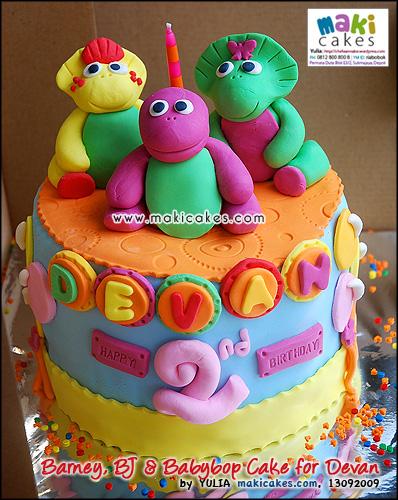 Barney BJ & Babybop Cake for Devan - Maki Cakes