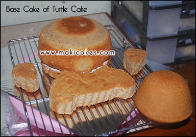 base cake 1 _Turtle Cake for Om Yoyok__ - Maki Cakes
