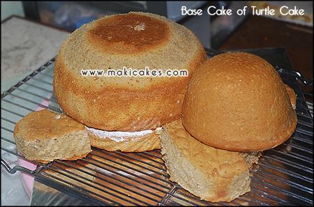 base cake 2 _Turtle Cake for Om Yoyok__ - Maki Cakes