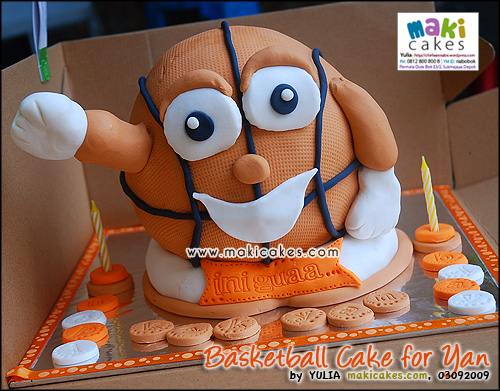 Basketball Cake for Yan - Maki Cakes