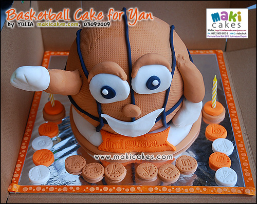 Basketball Cake for Yan_ - Maki Cakes