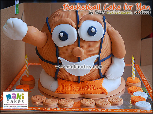 Basketball Cake for Yan__ - Maki Cakes