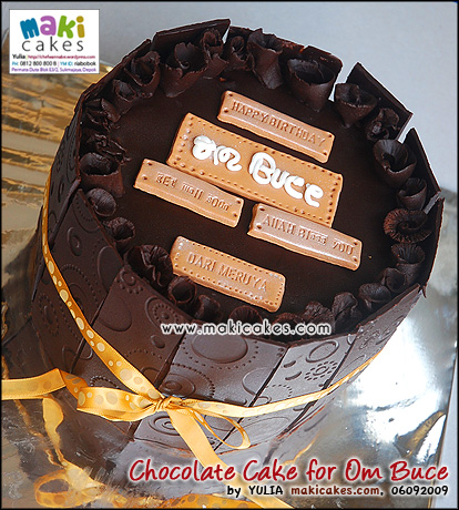 Chocolate Cake for Om Buce - Maki Cakes