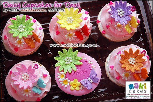 Daisy Cupcakes for Dewi_ - Maki Cakes