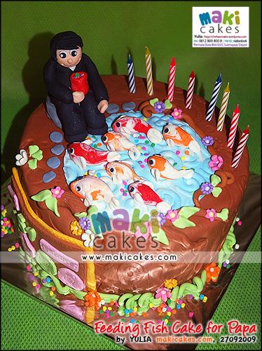 Feeding Fish Cake for Papa - Maki Cakes