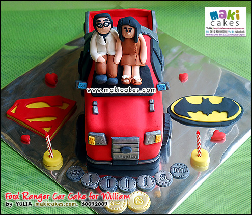 Ford Ranger Car Cake for William_ - Maki Cakes