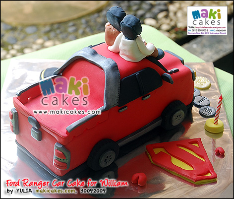 Ford Ranger Car Cake for William__ - Maki Cakes
