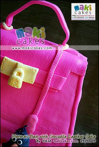 Hermes Bag with Crocodile Leather Cake - Maki Cakes