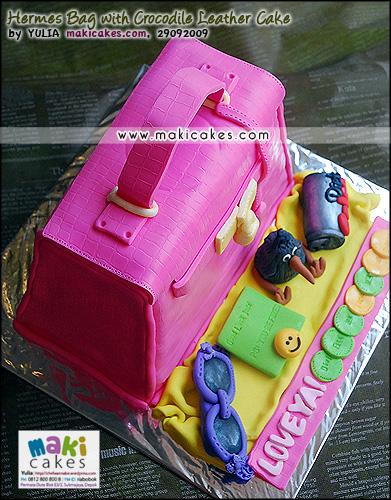 Hermes Bag with Crocodile Leather Cake__- Maki Cakes
