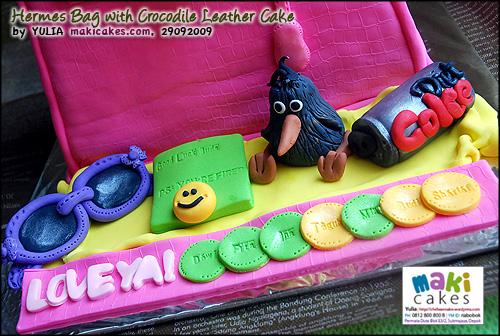 Hermes Bag with Crocodile Leather Cake___- Maki Cakes