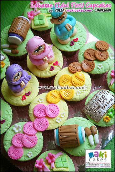 Lebaran (Idul Fitri) Cupcakes 2009 - Maki Cakes