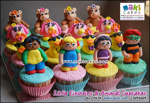 Little Einsteins & Animal Cupcakes- Maki Cakes