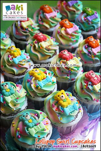 Lollipop Swirl Cupcakes Jihan Ghina Alya - Maki Cakes