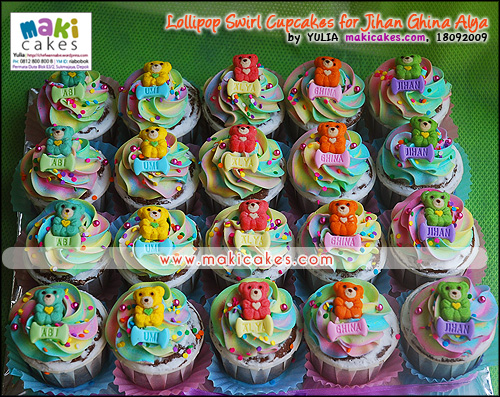 Lollipop Swirl Cupcakes Jihan Ghina Alya_ - Maki Cakes