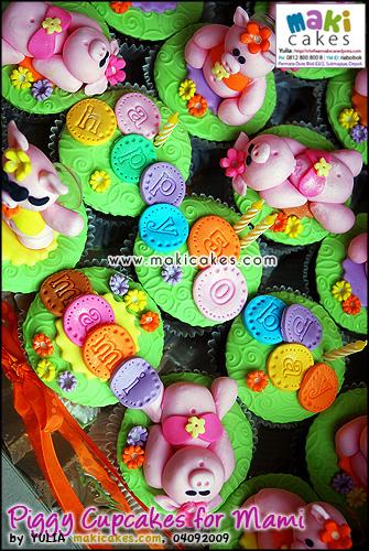 Piggy Cupcakes for Mami_ - Maki Cakes