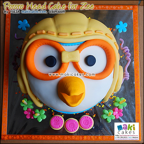 Pororo Head Cake for Zee - Maki Cakes