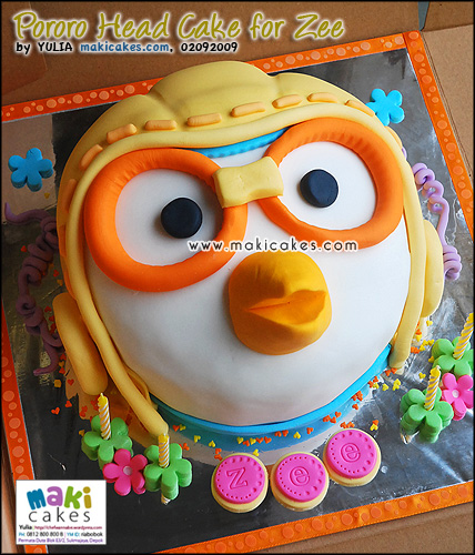 Pororo Head Cake for Zee_ - Maki Cakes