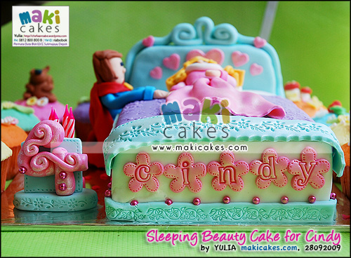 Sleeping Beauty Cake & Cupcakes for Cindy - Maki Cakes