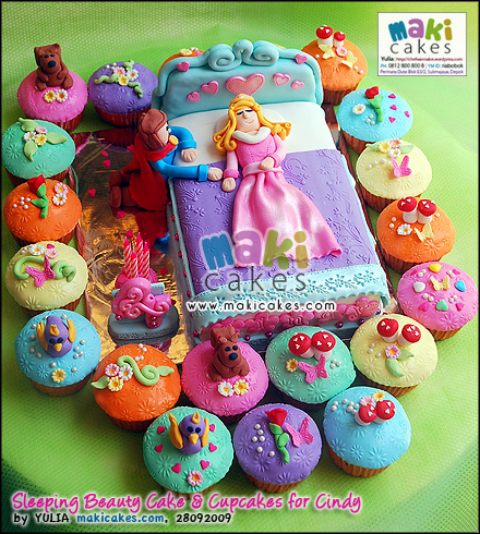 Sleeping Beauty Cake & Cupcakes for Cindy__ - Maki Cakes