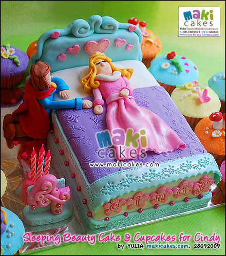 Sleeping Beauty Cake & Cupcakes for Cindy___ - Maki Cakes