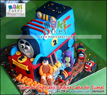 Thomas The Tank Engine Cake for Lionel_ - Maki Cakes
