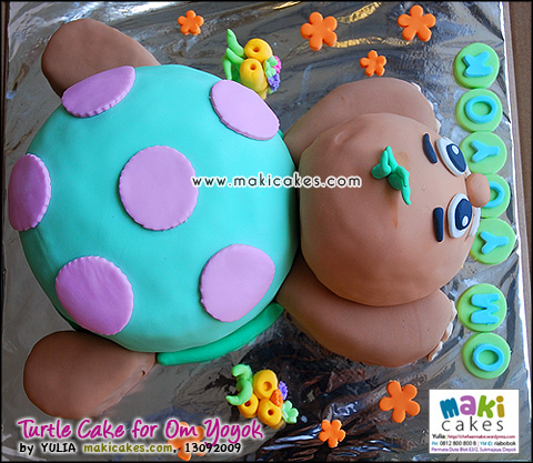 Turtle Cake for Om Yoyok_ - Maki Cakes