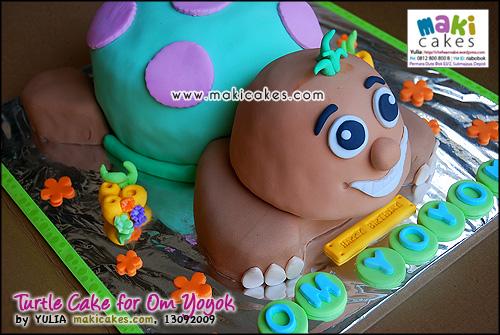 Turtle Cake for Om Yoyok__ - Maki Cakes