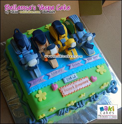 Vespa Cake [Bellarosa Sastrosubekti] - Maki Cakes