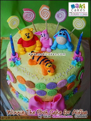 Winnie The Pooh Cake for Alifba - Maki Cakes