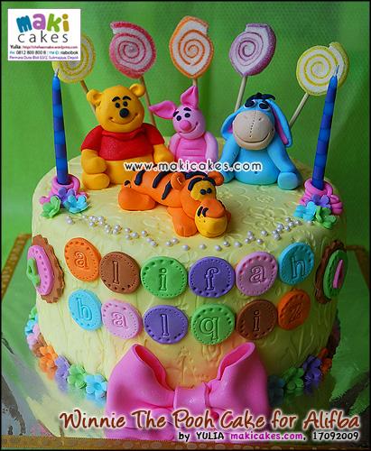 Winnie The Pooh Cake for Alifba_ - Maki Cakes