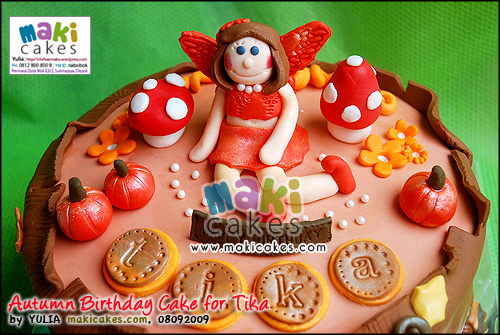 Autumn Birthday Cake for Tika_ - Maki Cakes