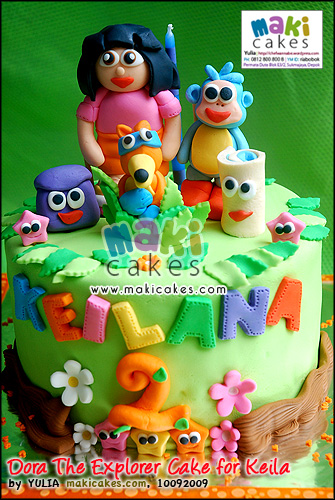 Dora The Explorer Cake for Keila - Maki Cakes