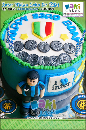 Inter Milan Cake for Rifai - Maki Cakes