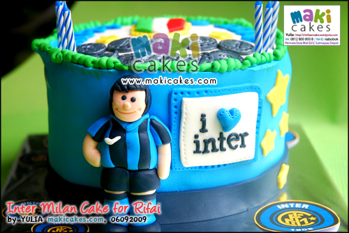 Inter Milan Cake for Rifai_ - Maki Cakes