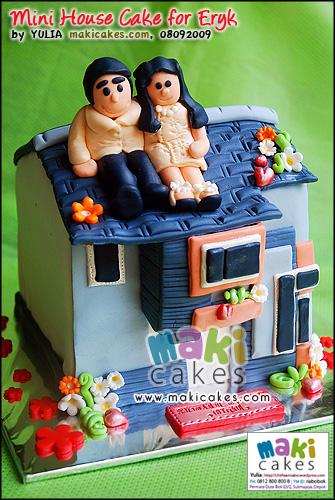 Mini House Cake for Eryk - Maki Cakes