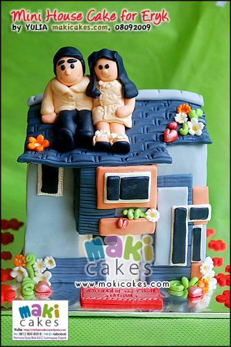 Mini House Cake for Eryk_ - Maki Cakes