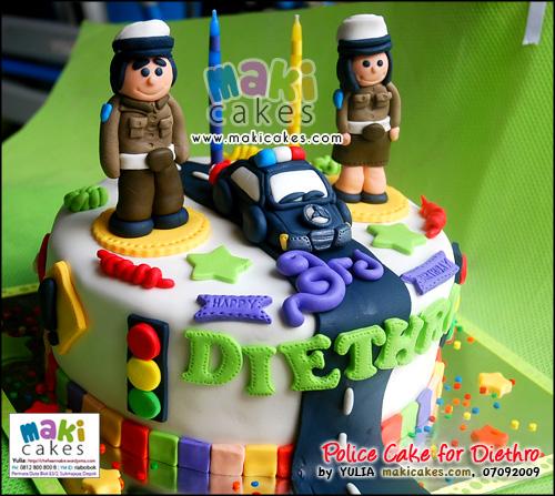 Policeman Cake for Diethro - Maki Cakes