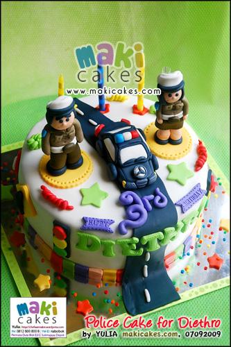 Policeman Cake for Diethro_ - Maki Cakes